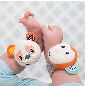 Monkey and Panda Wrist/Ankle Rattles (SET)